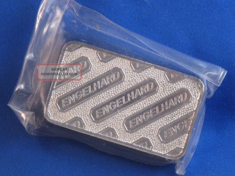 Engelhard 999 Silver 10 Oz Ingot Bar Struck Type B4201