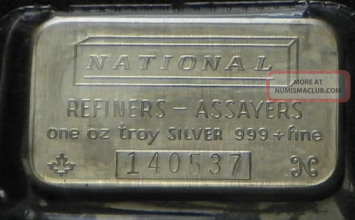 National Refiners Assayers Quot One Troy Ounce 999 Fine