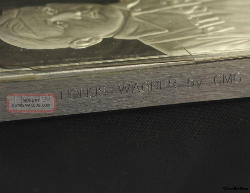 Honus Wagner Cigarette Card 8oz 999 Silver Bar Baseball