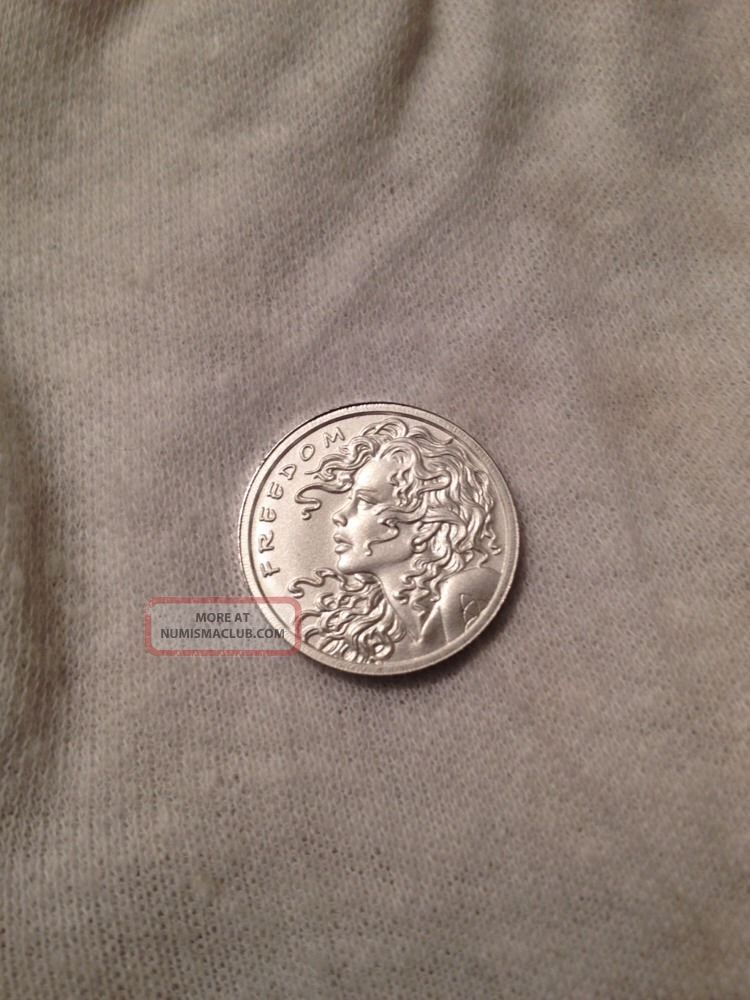 1 10 Oz Freedom Girl 999 Silver Round Silver Bullet