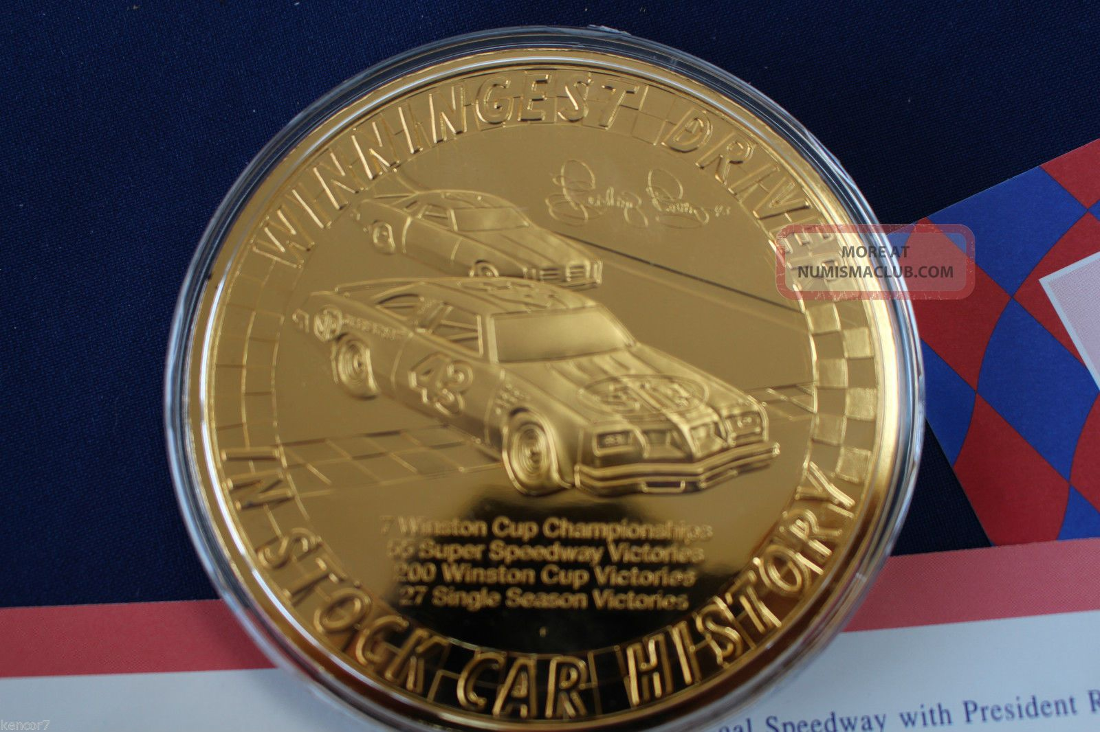 1998 Richard Petty 40th Anniversary Tribute Silver Medal