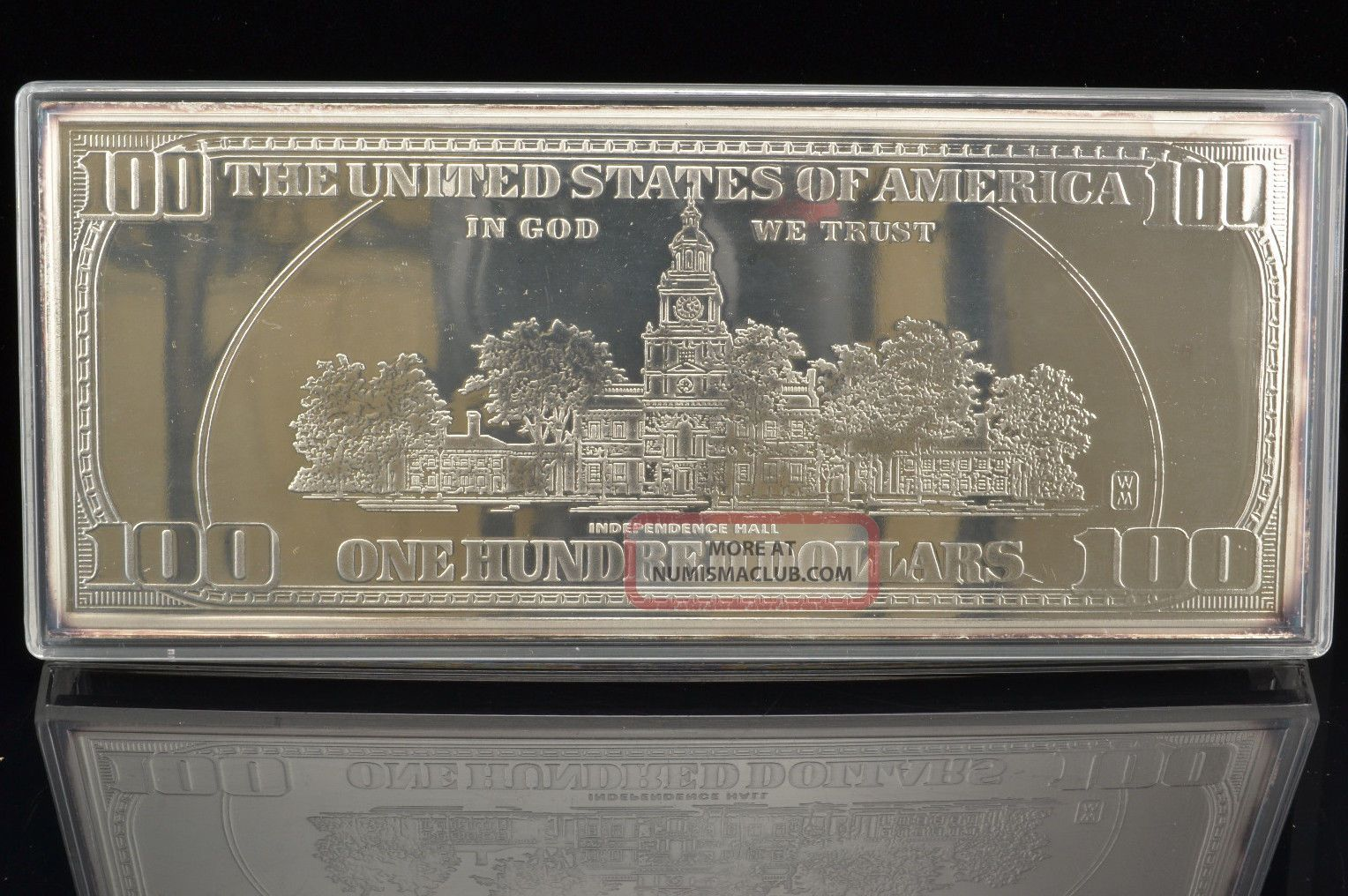 1999 100 One Hundred Dollar Silver Proof W Box And