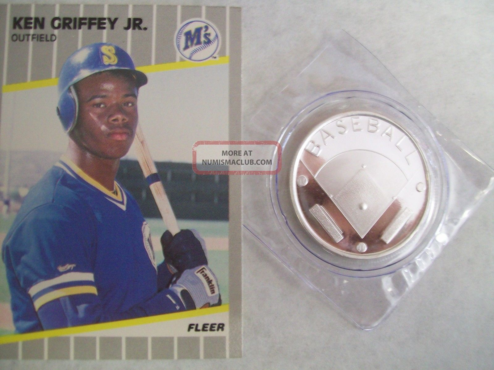 1 Oz 999 Fine Silver Baseball Round Coin Field Medalion