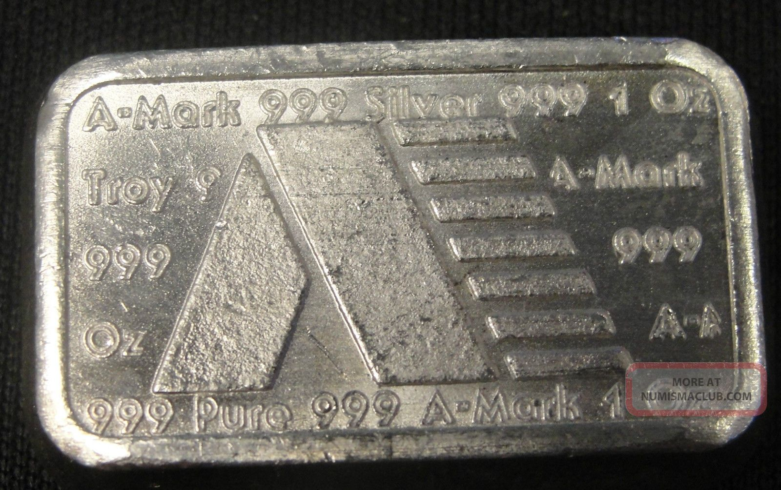 Rare A Mark Silver Bullion Chunky Bar Brick 1oz 999