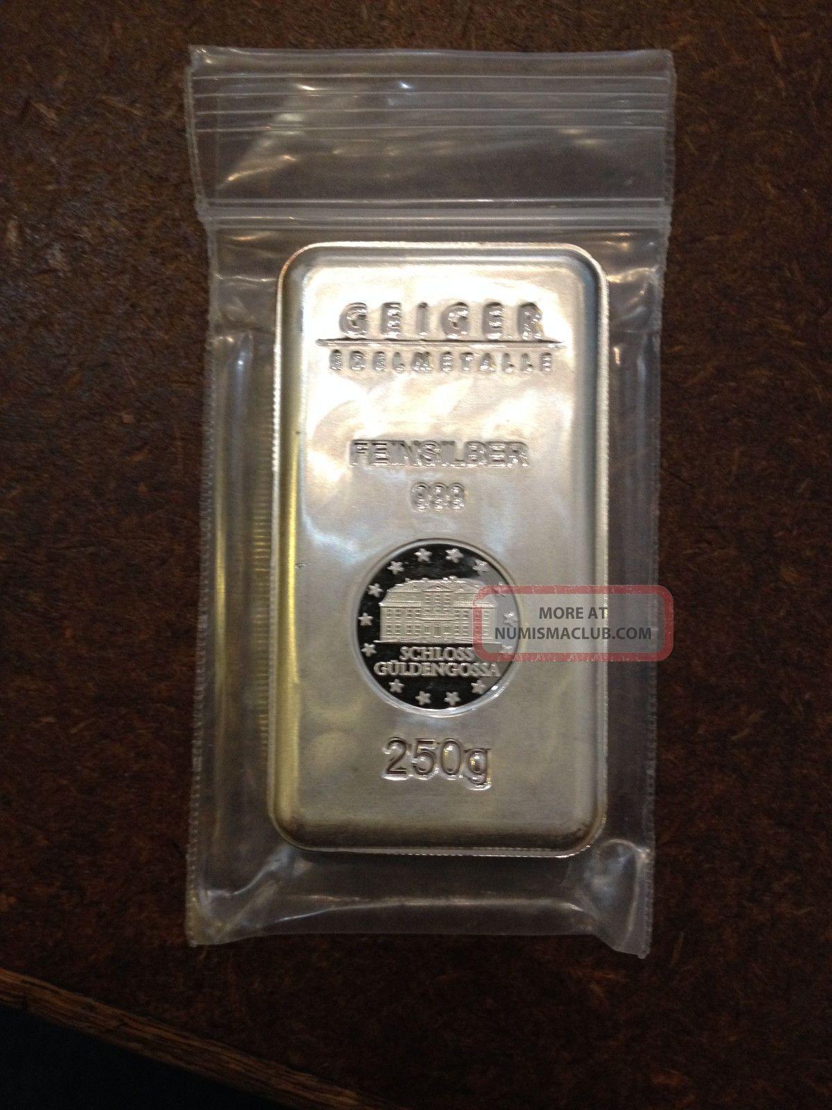 250 Gram Geiger Security Line Silver Bar 1 4 Kilo