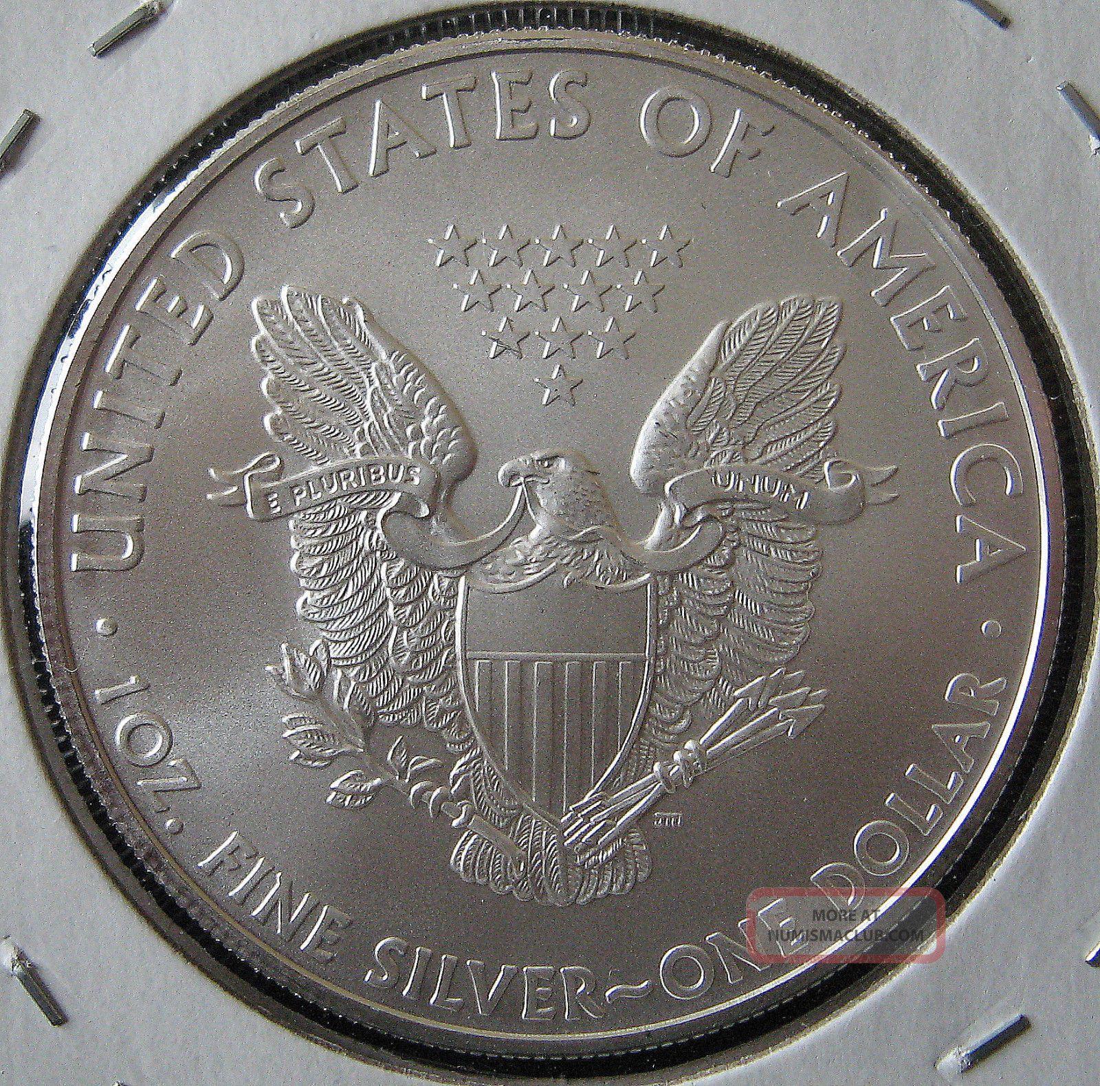 2010 Bu American Silver Eagle Dollar Usa Made 1 Oz 999