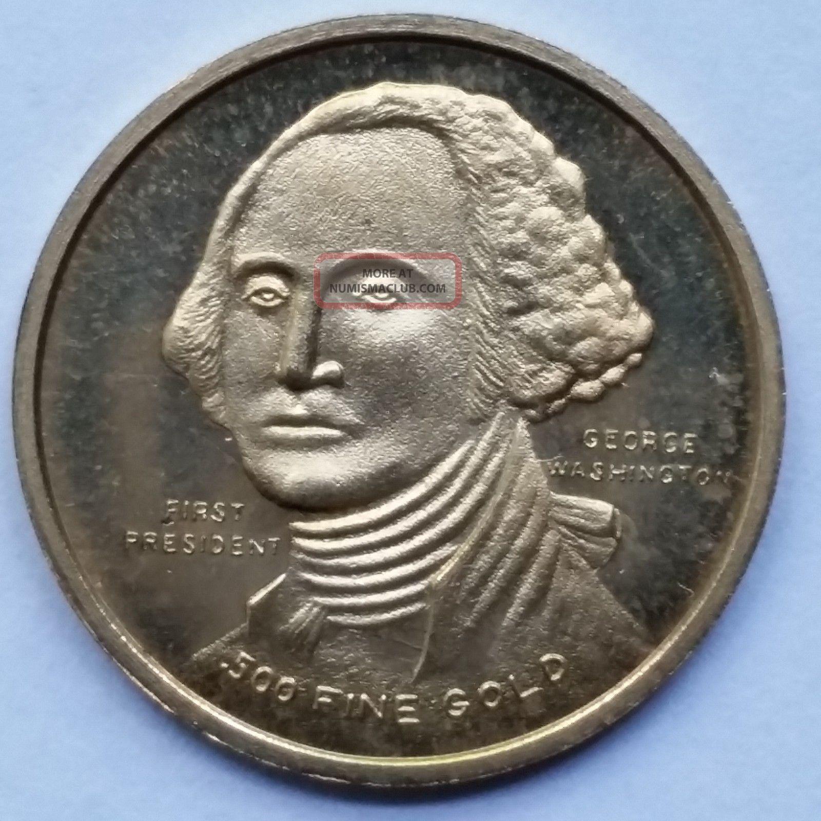 1776 1976 George Washington Bicentennial 500 Fine