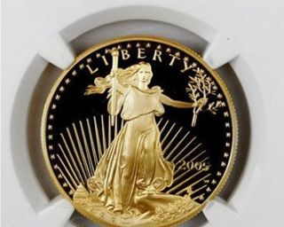 2005 - W 1 Troy Oz Proof Gold American Eagle $50 Ngc Pf70 Uc Proof 70 Ultra Cameo photo