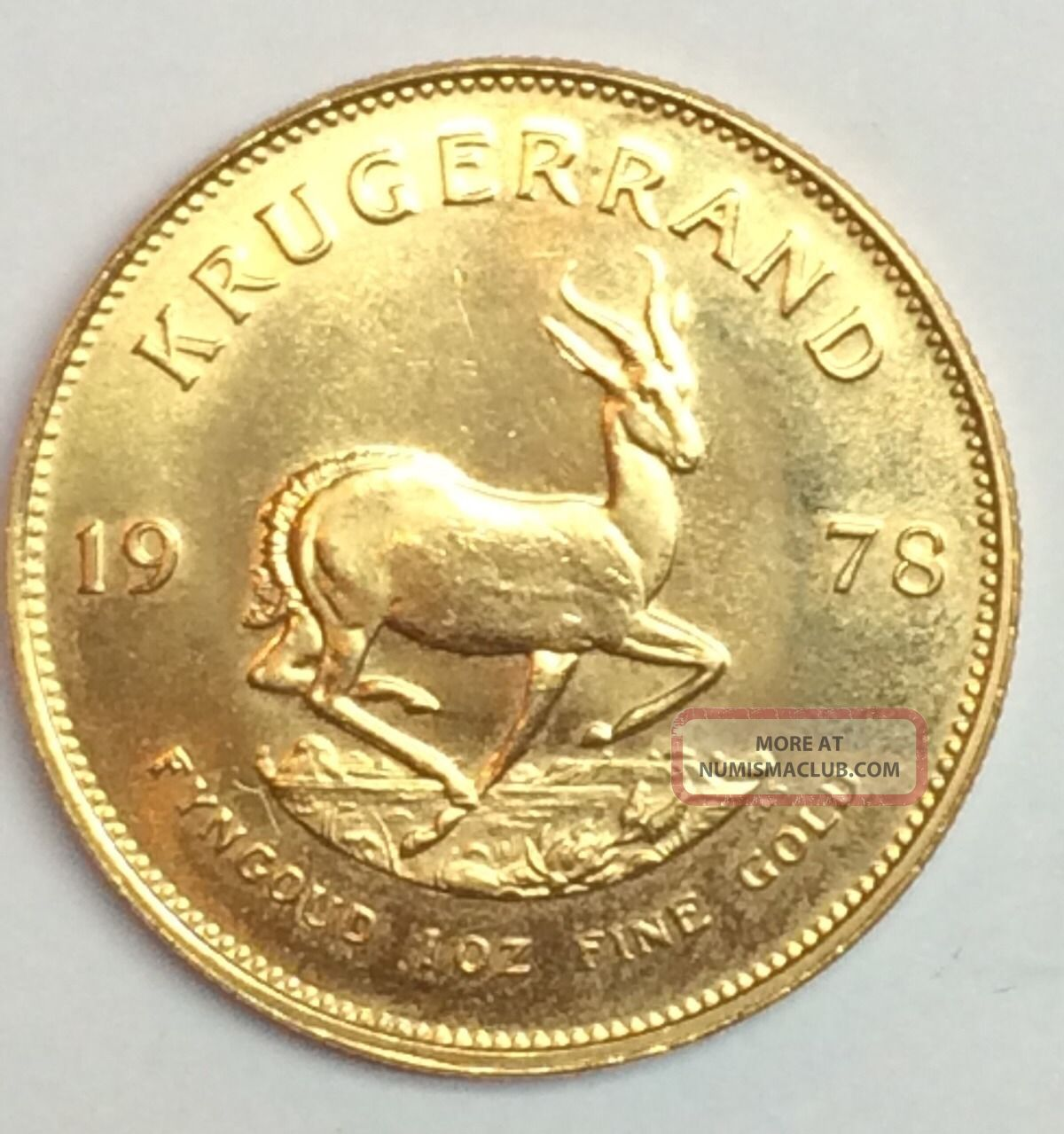 1978 1 0 Oz Gold South African Krugerrand Coin Uncirculated
