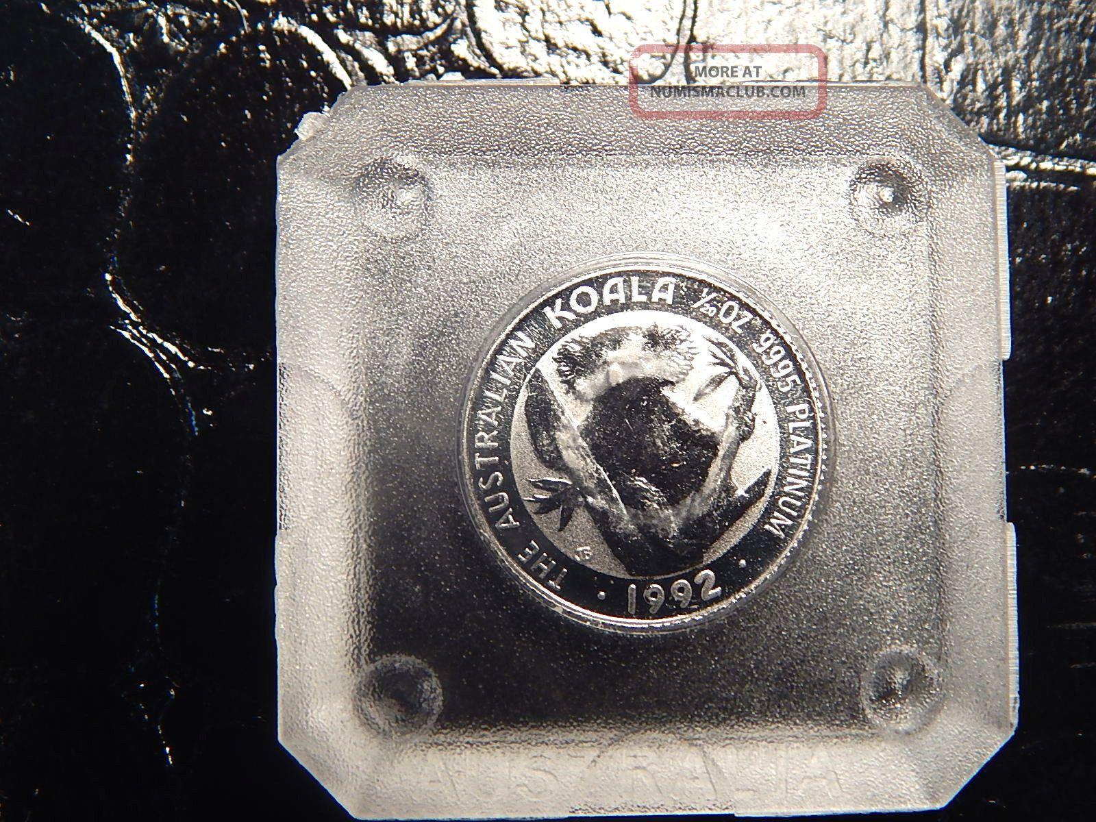 1992 Platinum 1 20 Oz Koala Round