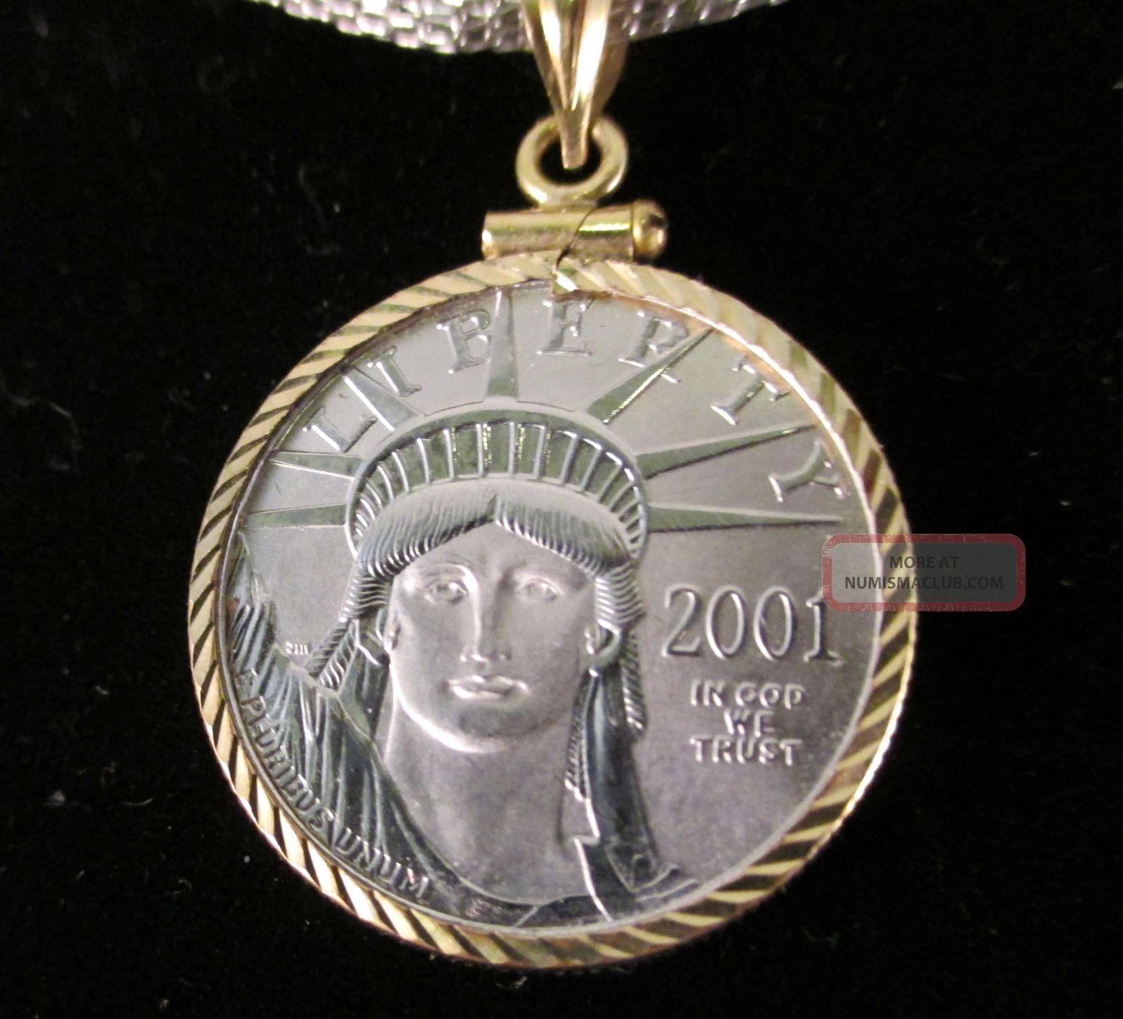 2001 Platinum Eagle 25 1 4 Oz Ounce 9995 Pure Platinum U
