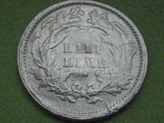 1871 - S Seated Liberty Half Dime - Scarce Date photo