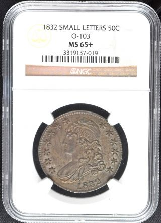 1832 Capped Bust 50c Ngc Ms 65+ photo