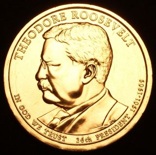 2013 D Theodore Roosevelt Presidential Dollar Pos A Now photo