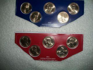 2014 Presidents And Native American Dollars P&d Mints Plus Bonus photo