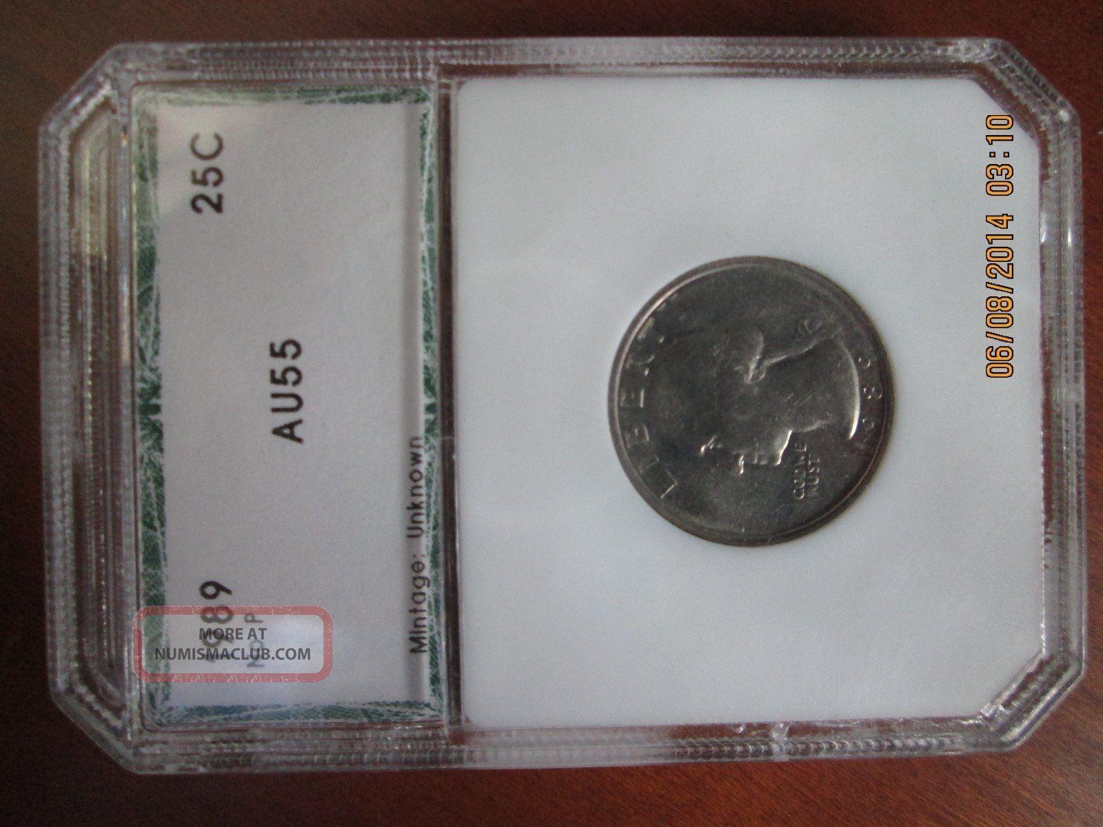 1989 Washington Quarter - No Mintmark Error - Raw