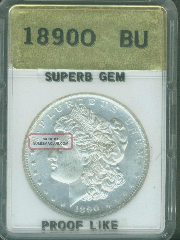 1890 O Morgan Silver Dollar Uncirculated Bu Gem Deep
