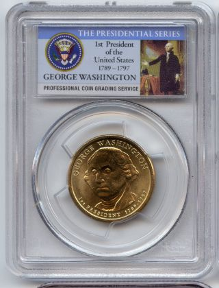 Pcgs Ms65 George Washington First Day Of Issue Dollar photo