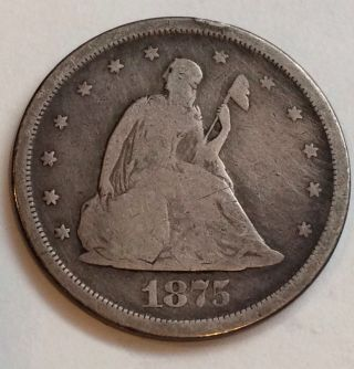 1875 - S 20 Cent Piece photo