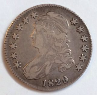 1829 Capped Bust Half Dollar,  Large Letters photo