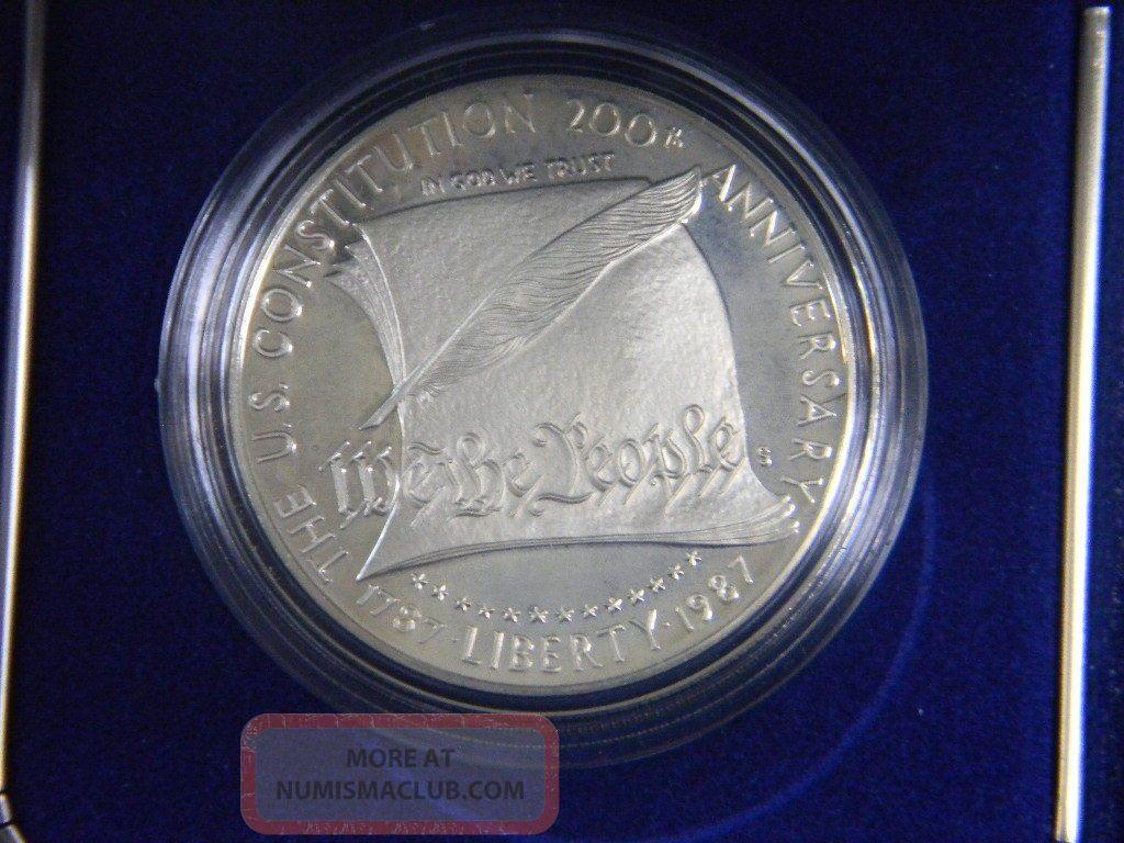 1987 us constitution coin value