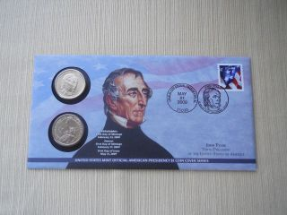 John Tyler $1 Coin Cover Issued First Dat Of Production 50000 Lt.  Edition photo