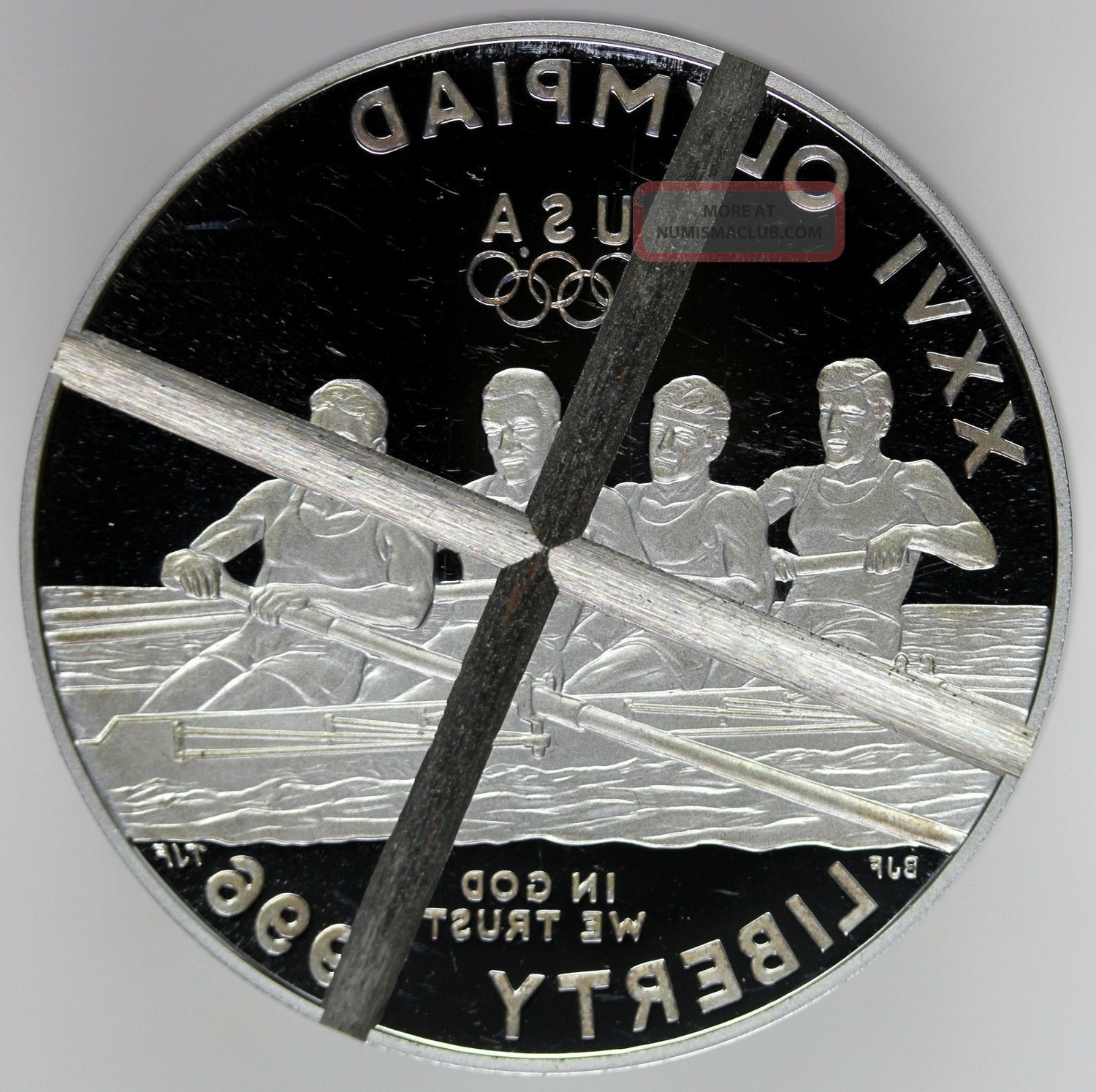 1996 1 Silver Olympic Rowing Quot X Quot Cancelled Proof