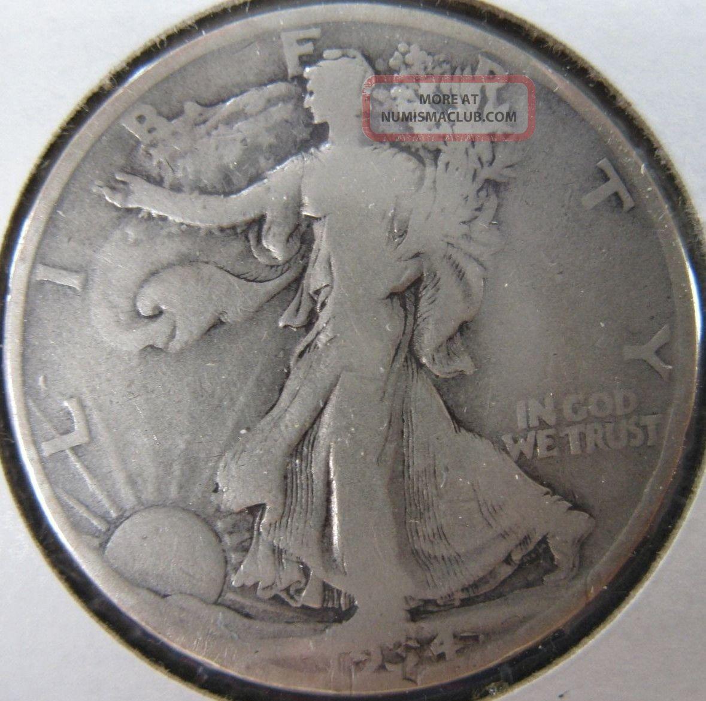 1934 D Walking Liberty Silver Half Dollar Denver Coin