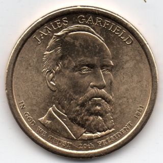 2011 - D - James Garfield - Presidential Coin 16 photo