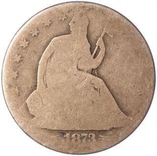 1873 50c Seated Liberty Half Dollar - Uncertified photo