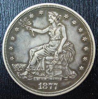 1877s Silver Dollar Crown Xf+.  Guarantee photo