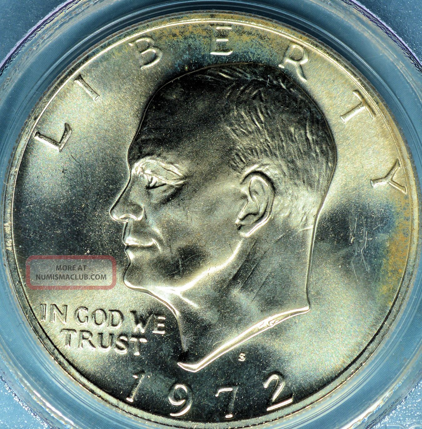 1972 S Eisenhower Dollar Quot Silver Ike Quot Pcgs Ms68