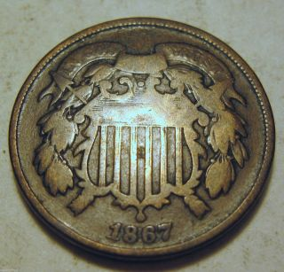 1867 Two Cent - (99f) photo