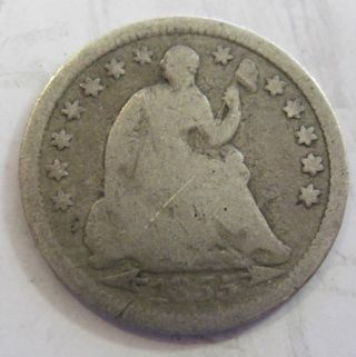 1855 Silver Seated Half Dime 48g photo
