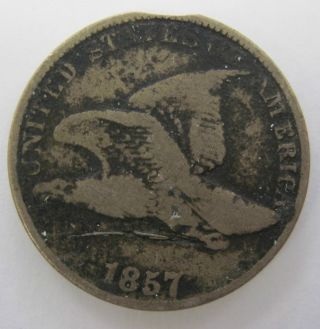 1857 Flying Eagle Cent Penny Coin (120o) photo