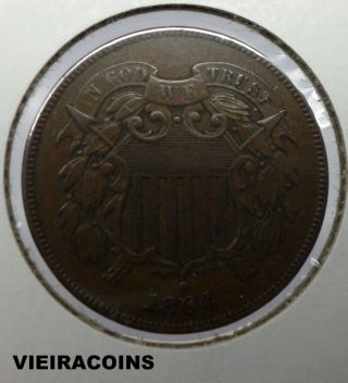 1864 Two Cent - - First Year - - 3513 photo