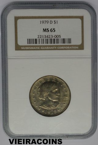 1979 - D Susan B.  Anthony $1 - Certified By: Ngc Ms65 - - 3880 photo