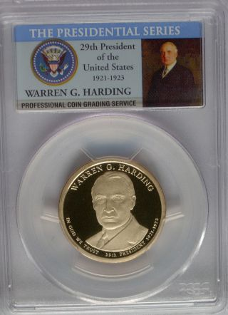 Pcgs 2014 S Proof Warren G Harding 29th Presidential Dollar Pf Pr69 $1 Usa photo