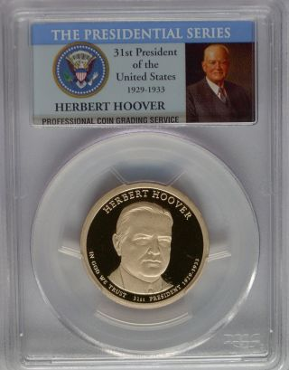 Pcgs 2014 S Proof Herbert Hoover 31st Presidential Dollar Pf Pr69 $1 Usa photo