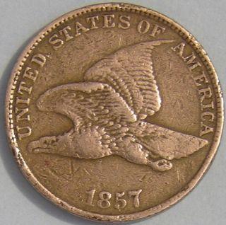 1857 Flying Eagle Cent,  Aj - 673 photo
