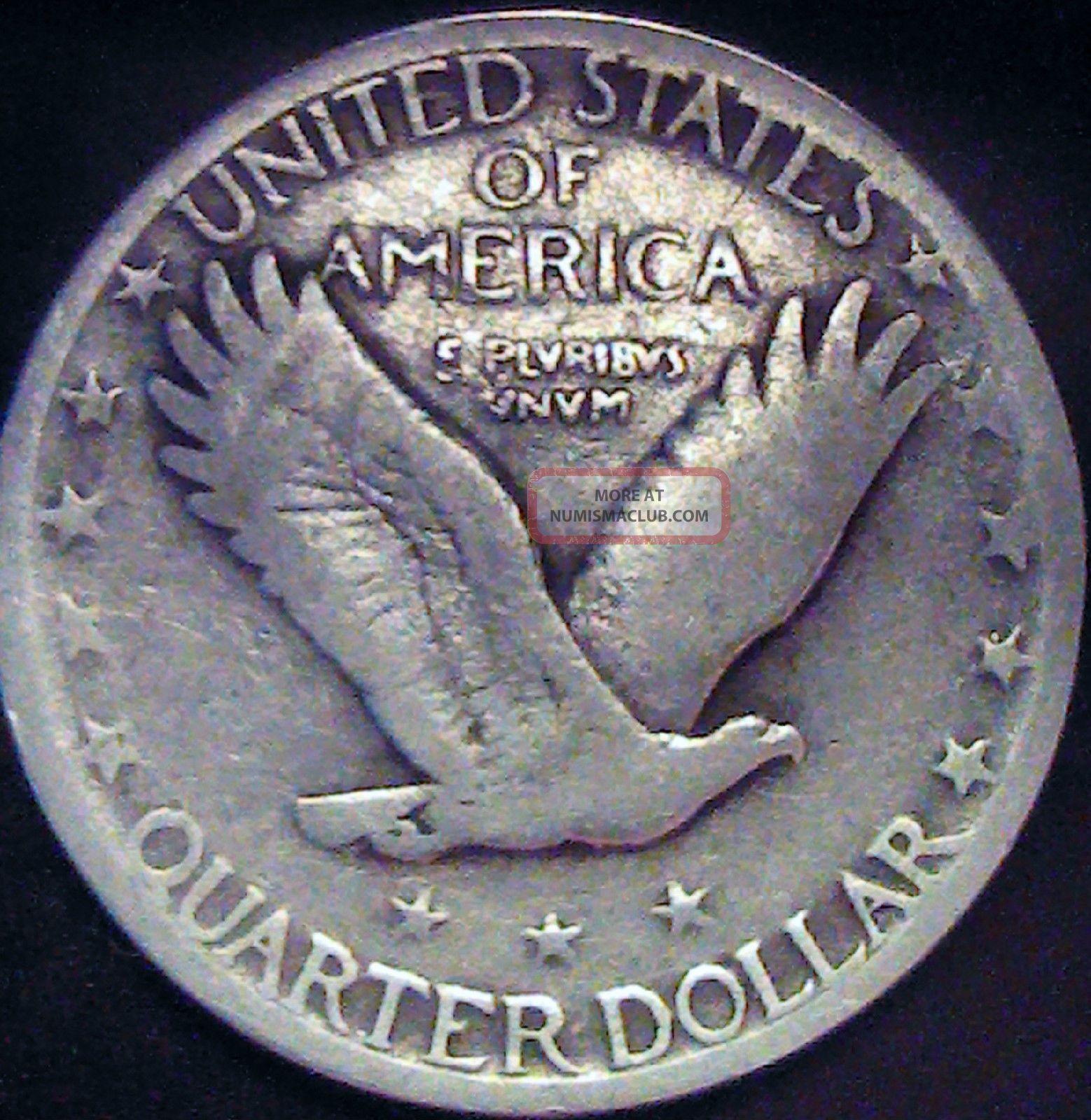 1926 Standing Liberty Quarter 90 Silver Coin