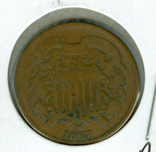 1867 Two Cent Piece Fine Grade. photo