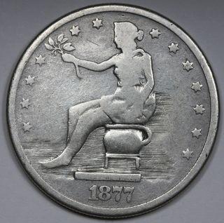 1877 Potty Dollar Trade Dollar 100% Wow photo