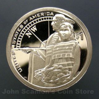 2014 - S Native American Sacagawea Dollar - Gem Proof Deep Cameo U.  S.  Coin photo