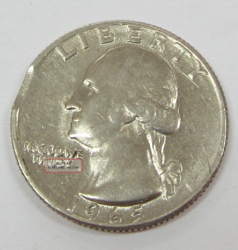 1965 P Us Washington Quarter Quot Clipped Error