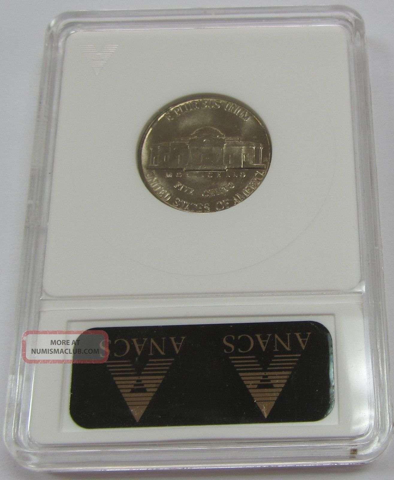 1955 - D Over S Rpm Jefferson Nickel Graded By Anacs Ms 64