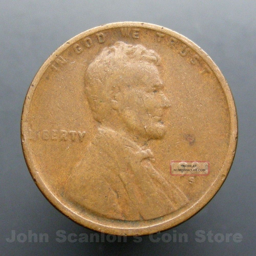 1920 S Lincoln Wheat Cent 1c Circulated Us Coin G Vg
