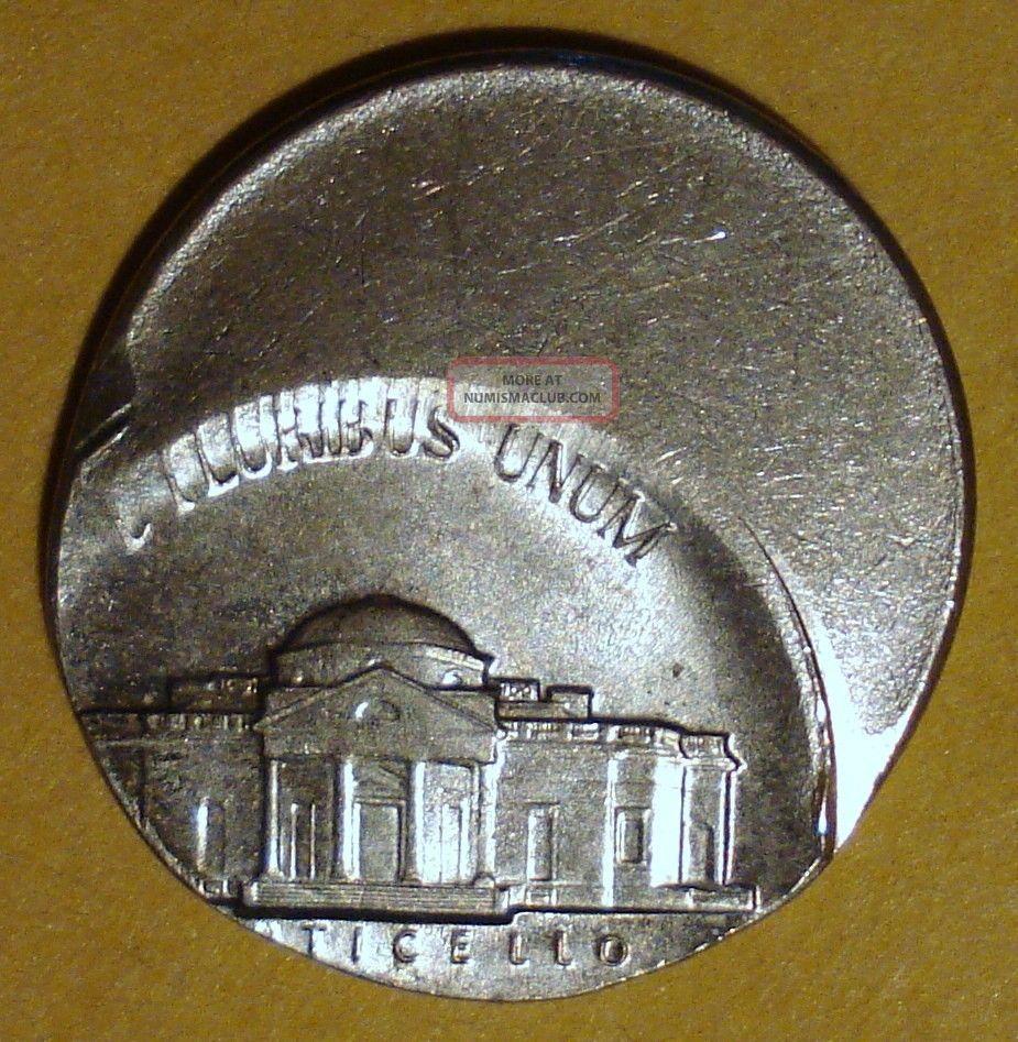1990 P Jefferson Nickel 50 Off Center Error Coin