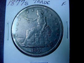 1877 - S U.  S.  Trade Dollar Large