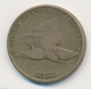 1857 P Flying Eagle Cent Vg 1067146b photo